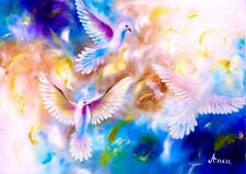 Dove Oil Painting