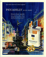 Piccadilly Cigarettes - VINTAGE ADVERTISING ENAMEL METAL TIN SIGN WALL PLAQUE