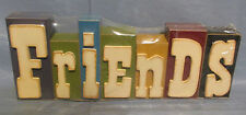 NEW FRIENDS Various Sized Multicolored Wooden Letter Blocks Sign Home Decor