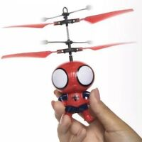Heli Ball Flying Spiderman Helicopter Ball RC Toy LED Kids Boys Girls Gifts New