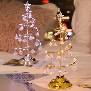 Mini Christmas Tree Night Light Led Lamp Table Top Desk Room Xmas Party Decor