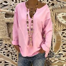 Plus Size Women Long Sleeve Loose Tops Blouse Ladies Hoodies Sweatshirt Pullover