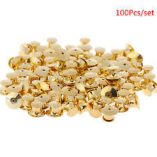 100Pcs/set Gold LOW PROFILE Locking Pin Backs Keepers for all Pin Post PinsLDUK