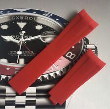 High Quality Aftermarket Red Rubber Strap Rolex Submarine, GMT, Daytona 20mm