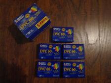 Five (5) Basf Mini Digital Video Cassettes - Sp = 60 min, Lp = 90 min - sealed