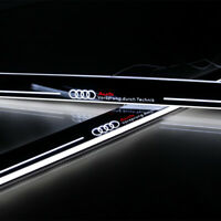 2x Moving LED Light Door Sill Scuff Plate Trim Panel For AUDI Q3/Q7 2014 2015