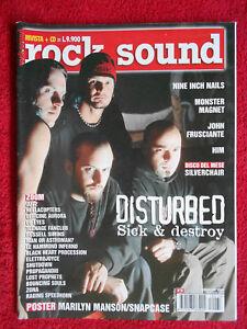 rivista ROCK SOUND 33/2001 POSTER Marilyn Manson Disturbed Nine Inch Nails No cd