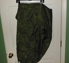 US Military 1988 Olive Green Nylon Waterproof Wrap Tight Tie Clothing Bag NWOT