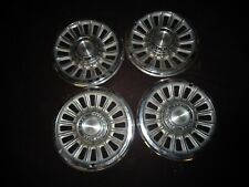 """1965 Pontiac GTO Lemans Tempest 14"""" 16-slot Slotted Wheel Covers Hubcaps 9780913"""