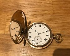 Lovely Antique Gold Plated Gents Waltham Ensign Hunter Pocket Watch.1903.Working
