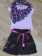 T-Shirt Mädchen Größe S mit Rock und Tuch