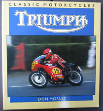 TRIUMPH MOTORCYCLE BOOK SINGLES TWINS TRIPLE PRE & UNIT RACING BONNEVILLE STREET