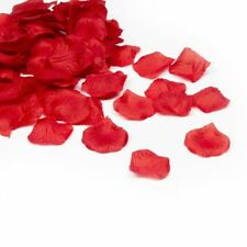 100 Deep Red Rose Silk Petals Confetti - Wedding Decorations