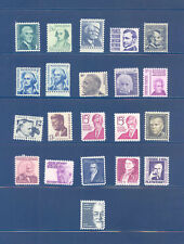 PKStamps - US - 1965/79 - Regular Issues - 1278/1295 - Set of 21 Stamps