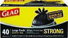 Glad, Strong Large 30 Gallon Trash Bags - 40 ct