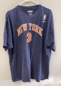 Reebok NBA New York Knicks T-Shirt Stephon Marbury Sz XL 100% Cotton Basketball