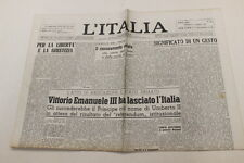 L'Italia  10 maggio 1946 Vittorio Emanuele III ha lasciato l'Italia