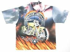 Hawaiian Shirt Orange County Choppers Motorcycle Button Front Size XL OCC