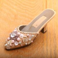 Vintage Sequined Shoe Heel Ornament