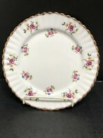 "Staffordshire Fine Bone China Gladstone Heavy Gold Edge  England 8.25"" Plate"