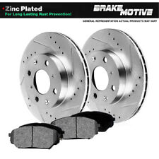 Front Drill And Slot Brake Rotors & Metallic Pads For 1991 - 2002 Saturn SC SW