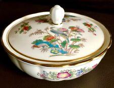 "Vintage (1971) Wedgwood Kutani Crane China 5.5""/14cm Lidded Bowl / Bon Bon Dish"