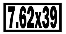 7.62X39 Vinyl Decal Sticker Car Window Wall Bumper Gun AK-47 Ammo Assault Rifle