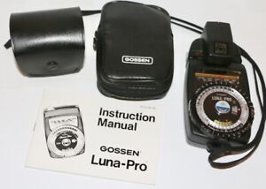 Gossen Luna Pro S  Light Meter + Spot Meter View Attachment In Great Condition