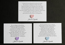 10 X  Personalised Wedding Honeymoon Gift Money Cash Request Poems Cards