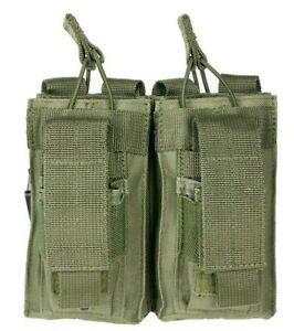 VISM Double Rifle Magazine Pouch w/ Pistol Mag Pouch MOLLE Tactical Hunt ODG~