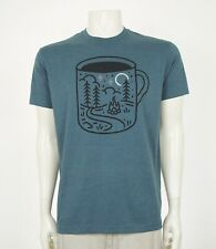 Wohven Campfire Coffee Mug Dark Blue Retro Tee Shirt Mens Large