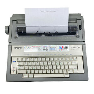 Vintage Brother GX 6000 Electric Portable Typewriter w/o Cover Tested Works