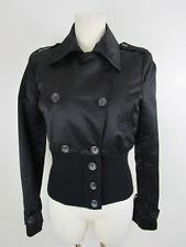 Richmond Denim Damen Jacke Jacket Blouson 38 Schwarz Tailliert Zweireiher Kurz