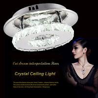 Chrome Metal Crystal LED Ceiling Light lamp Fitting Pendant Chandelier 8686HC