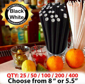 Black Paper Straws Gin Cocktail Paper Drinking Straws Cheap Stocking Fillers UK