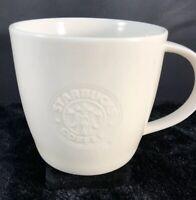 Starbucks Coffee Embossed White Siren 2009 New Bone China Mug 16 oz