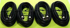 RG-59/U COAXIAL CABLE F CONNECTORS ANTENNA CABLE TO TV 6 FOOT BLACK 4PCS