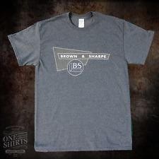Brown and Sharpe Logo T Shirt (rare vintage logo) Grey Heather Gildan