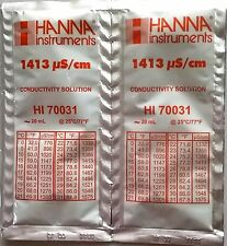 2 X EC Buffer Solution / Calibration Hanna 1413 µS/cm 20ml (HI 70031)