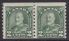 CANADA : 1930 definitive 2c green coil  SG306  mint pair