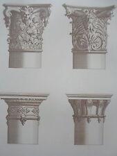 Jean BERAIN chapiteaux colonnes LOUIS XIV GRAVURE décoration ADAMS MEUBLE XIXéme