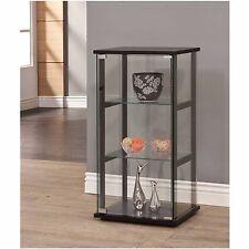 Glass Shelf Cabinet Case Curio Trophy Display Doors Collectibles Shelves