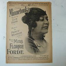 Songsheet minnetonka Florrie Forde 1921