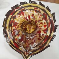 Terry Crider Hand Blown Glass Jack In The Pulpit Vase (Signed & Dated)