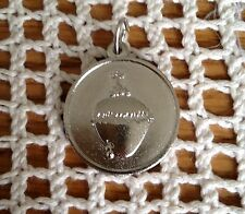 Mournful (Sacred) Heart of Jesus Medal Silvertone, Christian Catholic Devotional