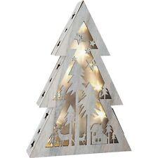 LED Tannenbaum Baum Holz Leuchttannenbaum Shabby Chic klein Leuchte Lampe Deko