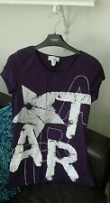 BNWOT Very Trendy Purple Top with Silver Stars Size 10-12 MUST SEE