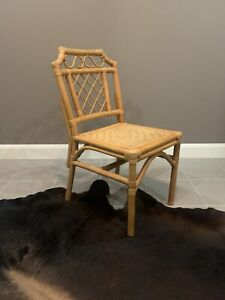 VINTAGE Chinoiserie Style Cane & Rattan Dining Chairs / Side Chairs PICK UP ONLY