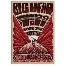 BIG HEAD TODD & THE MONSTERS 2009 Red Rocks - Colorado Concert Poster  Jeff Wood