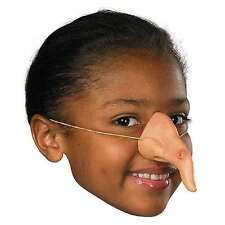 Girls Latex Witch Nose Elastic Band Costume Witches Long Wart Nose Kids Child